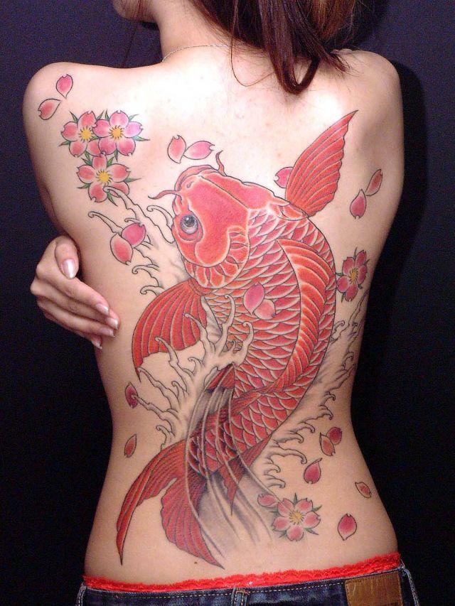 64 Ideas de Tatuajes de Pez Koi (+ Significados) 73