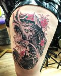 64 Ideas de Tatuajes de Pez Koi (+ Significados) 26