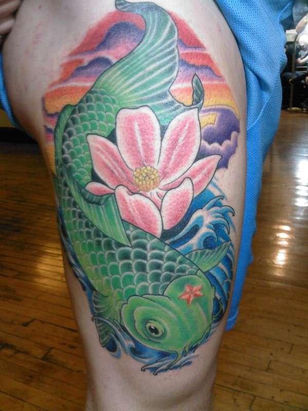 64 Ideas de Tatuajes de Pez Koi (+ Significados) 29
