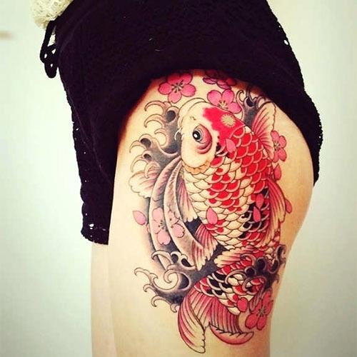 64 Ideas de Tatuajes de Pez Koi (+ Significados) 30