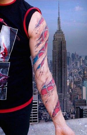 60 Ideas para Tatuajes de Spiderman (+Significados) 36