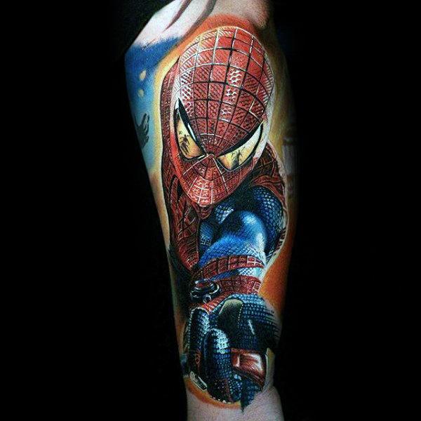60 Ideas para Tatuajes de Spiderman (+Significados) 23