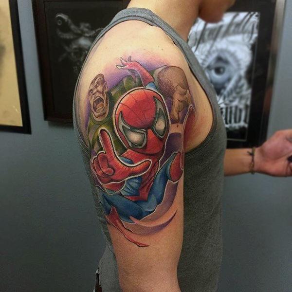 60 Ideas para Tatuajes de Spiderman (+Significados) 26