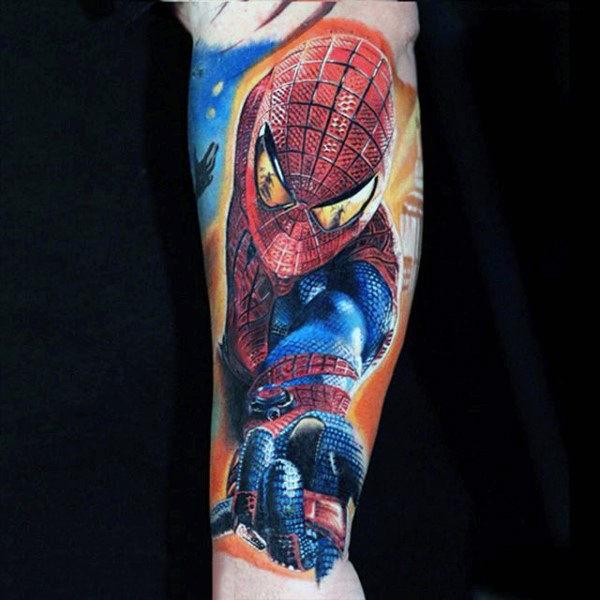 60 Ideas para Tatuajes de Spiderman (+Significados) 28