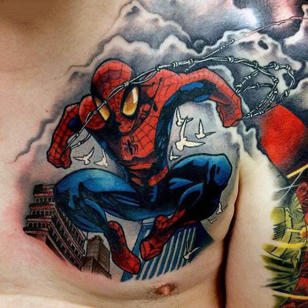 60 Ideas para Tatuajes de Spiderman (+Significados) 30