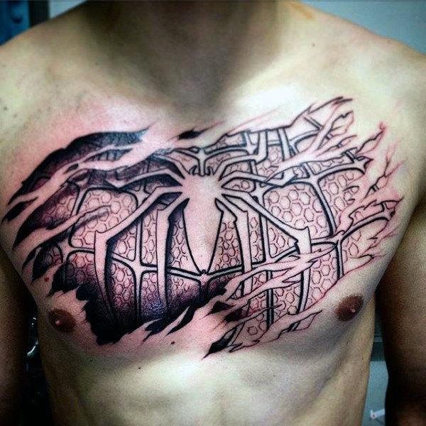 60 Ideas para Tatuajes de Spiderman (+Significados) 31