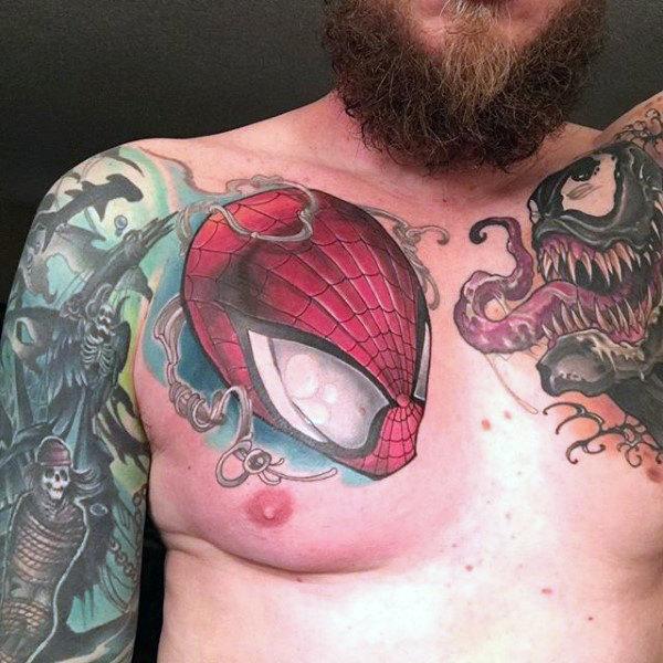 60 Ideas para Tatuajes de Spiderman (+Significados) 32