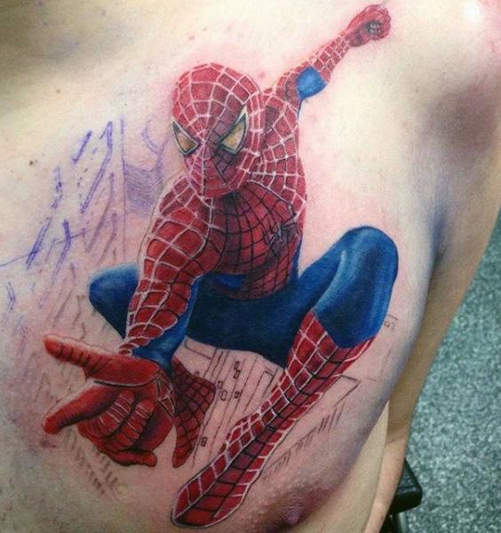 60 Ideas para Tatuajes de Spiderman (+Significados) 33