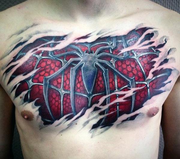 60 Ideas para Tatuajes de Spiderman (+Significados) 34