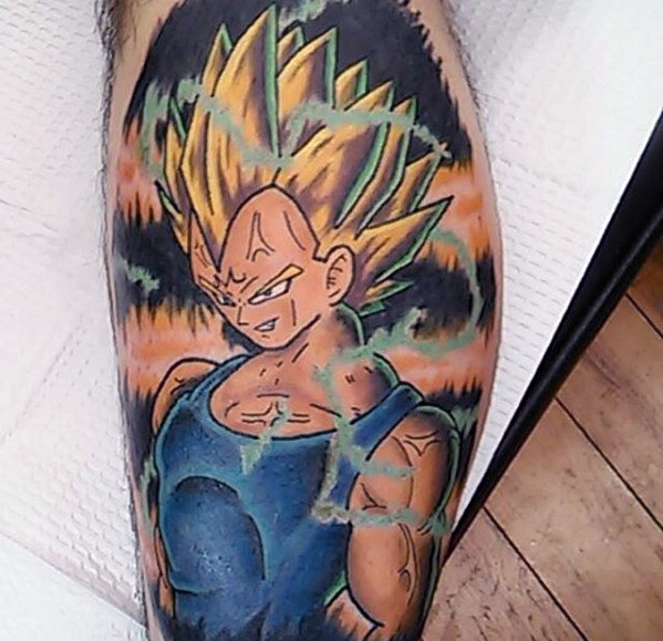 58 Mejores Tatuajes de Vegeta (+Significado) 39