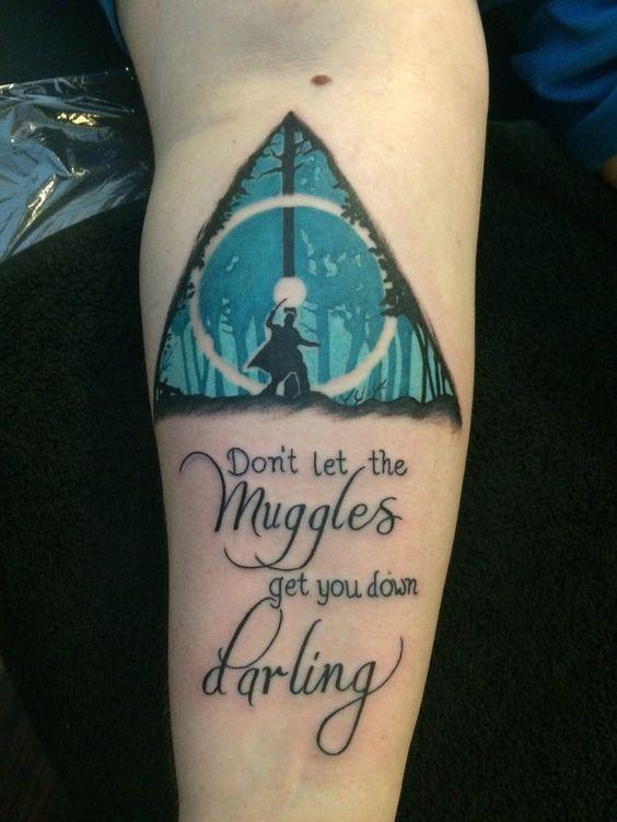 9 3/4 Ideas para Tatuajes de Harry Potter que todos los fans quieren 13
