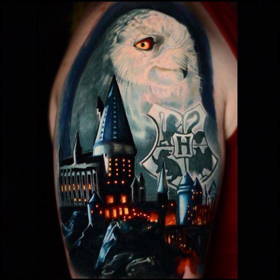 9 3/4 Ideas para Tatuajes de Harry Potter que todos los fans quieren 46