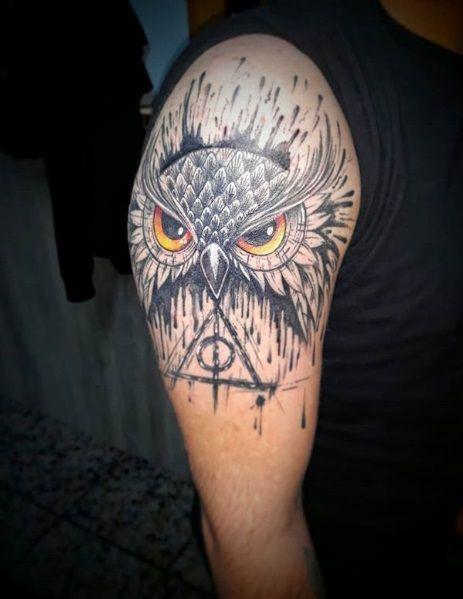 9 3/4 Ideas para Tatuajes de Harry Potter que todos los fans quieren 47