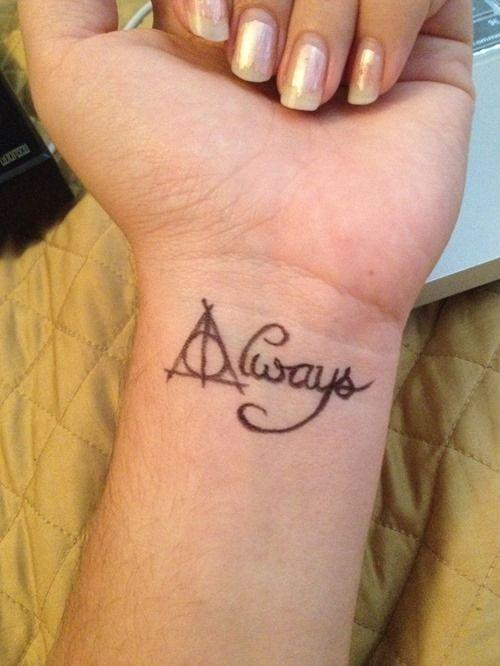9 3/4 Ideas para Tatuajes de Harry Potter que todos los fans quieren 50