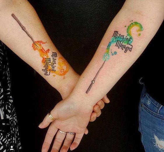 9 3/4 Ideas para Tatuajes de Harry Potter que todos los fans quieren 30