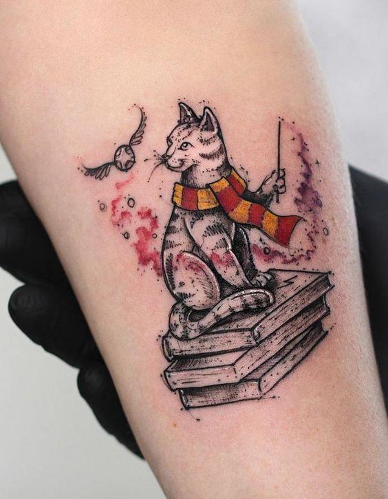 9 3/4 Ideas para Tatuajes de Harry Potter que todos los fans quieren 32