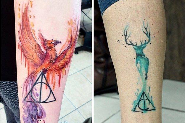 9 3/4 Ideas para Tatuajes de Harry Potter que todos los fans quieren 21