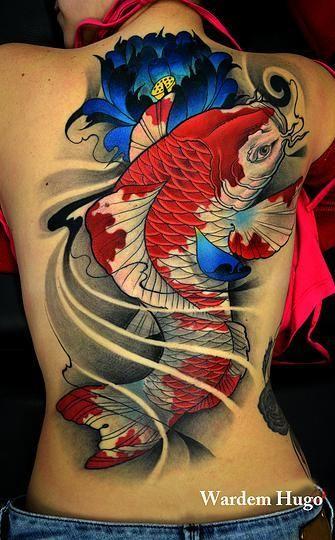 64 Ideas de Tatuajes de Pez Koi (+ Significados) 13