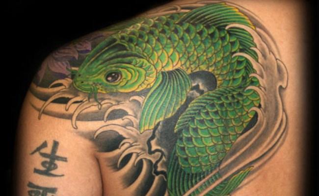 64 Ideas de Tatuajes de Pez Koi (+ Significados) 15