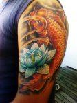 64 Ideas de Tatuajes de Pez Koi (+ Significados) 9
