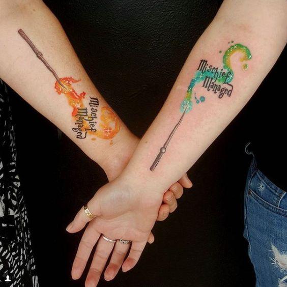 9 3/4 Ideas para Tatuajes de Harry Potter que todos los fans quieren 25