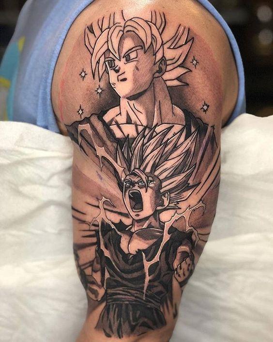 46 Mejores Tatuajes de Dragon Ball y variantes 11